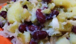 beans and potato winter salad